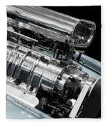 Custom Racing Car Engine Fleece Blanket
