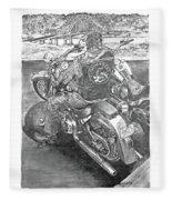 Custom Riders Fleece Blanket