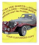 Custom Tee Shirts Fleece Blanket