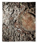 Cut Branch On Tree Trunk Fleece Blanket