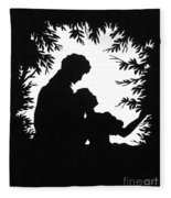 Cut-paper Silhouette Fleece Blanket