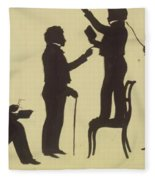Cut Silhouette Of Four Full Figures 1830 Fleece Blanket