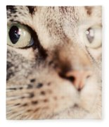 Cute Cat Close-up Portrait Fleece Blanket