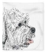Cute Dog Fleece Blanket