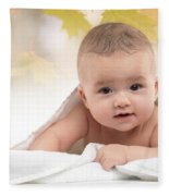 Cute Four Month Old Baby Boy Fleece Blanket