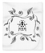 Cute Ladybug Baby Room Decor Iv Fleece Blanket