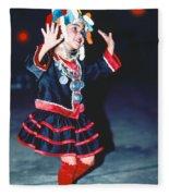 Cute Little Thai Girl Dancing Fleece Blanket