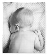 Cute Newborn Baby Black And White Fleece Blanket