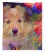 Cute Puppy Fleece Blanket