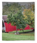 Cutler-donahoe Covered Bridge Fleece Blanket