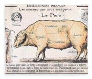 Cuts Of Pork Fleece Blanket
