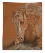 Cutting Horse Fleece Blanket