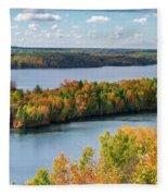 Cuyuna Country State Recreation Area - Autumn #1 Fleece Blanket