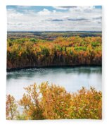 Cuyuna Country State Recreation Area - Autumn #2 Fleece Blanket