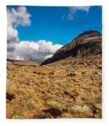 Cwm Idwal Panorama Fleece Blanket