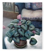 Cyclamen And Wicker Fleece Blanket