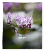 Cyclamen At Lachish 1 Fleece Blanket