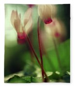 Cyclamens Fleece Blanket
