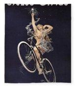 Cycles Sirius - Paris 1899 Fleece Blanket