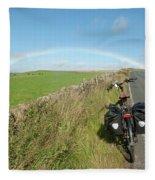 Cycling To The Rainbow Fleece Blanket