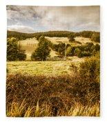 Cygnet Rustic Farming Fields Fleece Blanket