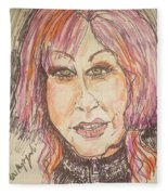 Cyndi Lauper Fleece Blanket