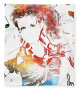 Cyndi Lauper Watercolor Fleece Blanket