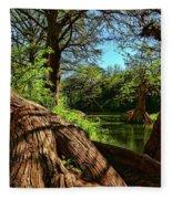 Cypress Bend Park In New Braunfels Fleece Blanket