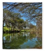 Cypress Bend Park Reflections Fleece Blanket