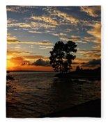 Cypress Bend Resort Sunset Fleece Blanket