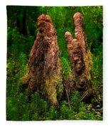 Cypress Knees Fleece Blanket