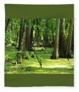Cypress Knees In Wetlands Fleece Blanket