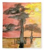 Cypress Sunset Fleece Blanket
