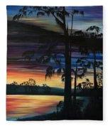 Cypress Sunset Fleece Blanket