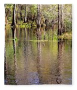 Cypress Trees Along The Hillsborough River Fleece Blanket
