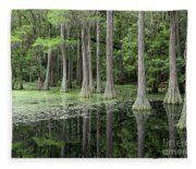Cypresses In Tallahassee Fleece Blanket