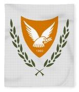 Cyprus Coat Of Arms Fleece Blanket