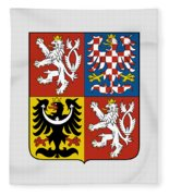 Czech Republic Coat Of Arms Fleece Blanket