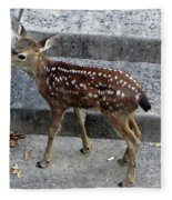 D-a0069 Mule Deer Fawn On Our Property On Sonoma Mountain Fleece Blanket