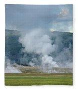 D09125 Steam Vents Near Midway Geyser Basin Fleece Blanket