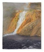 D09126 Outlet Of Midway Geyser Basin Fleece Blanket