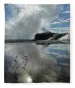 D09130-dc Cloud And Steam Reflect Fleece Blanket