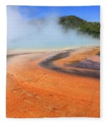D09132 Colorful Grand Prismatic Spring Fleece Blanket
