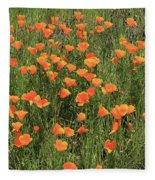 d7b6307 California Poppies Fleece Blanket