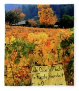 D8b6314 Autumn At Jack London Vinyard With Thanks To Firefighters Ca Fleece Blanket