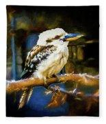 Kookaburra Dacelo Novaeguineae Fleece Blanket