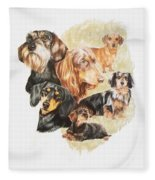 Dachshund Revamp Fleece Blanket