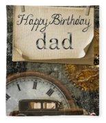 Dad's Birthday Fleece Blanket