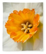 Daffodil Narcissus Flower Fleece Blanket