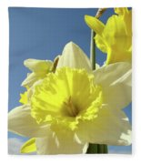 Daffodil Flowers Artwork Floral Photography Spring Flower Art Prints Fleece Blanket